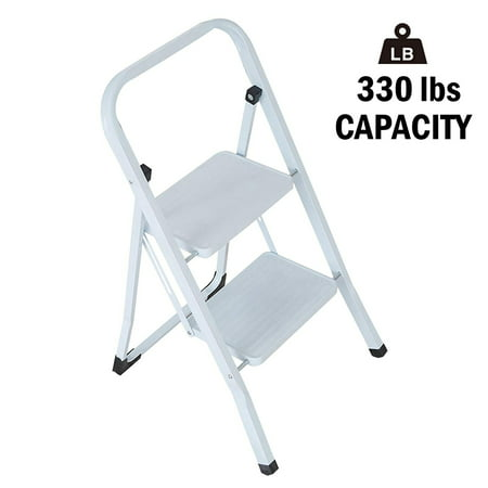 Karmas Product Folding 2 Step Stool Lightweight White