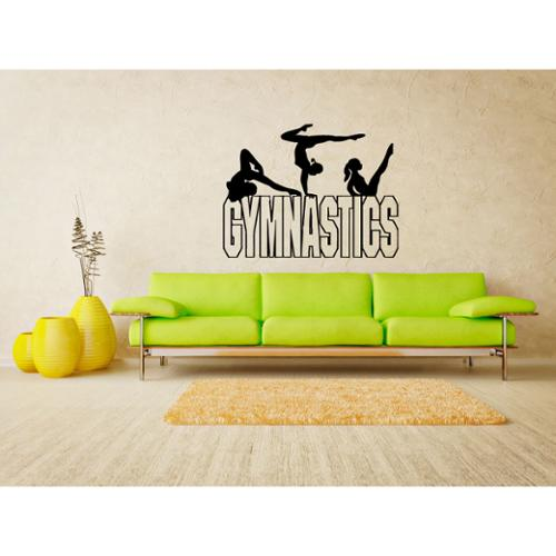 Stickalz llc Gymnastics projectile beam Wall Art Sticker Decal