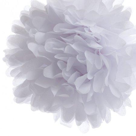 Quasimoon 20'' White Tissue Paper Pom Poms Flowers Balls, Decorations (4 Pack) by PaperLanternStore - Tissue Paper Flowers Easy