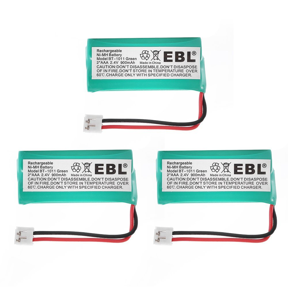 EBL 3-Pack 2.4v 900mAh Home Cordless Phone Replacement Battery for BT-1011 BT-1018 BT-6010 BT-184342 BT-28433 BT-284342 BT-8000 CS6219 DS6111