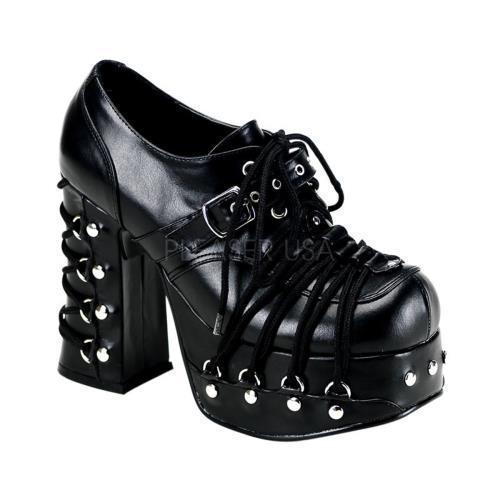 CHA35 B PU Demonia Platform Sandals & Shoes Womens BLACK Size: 6 by