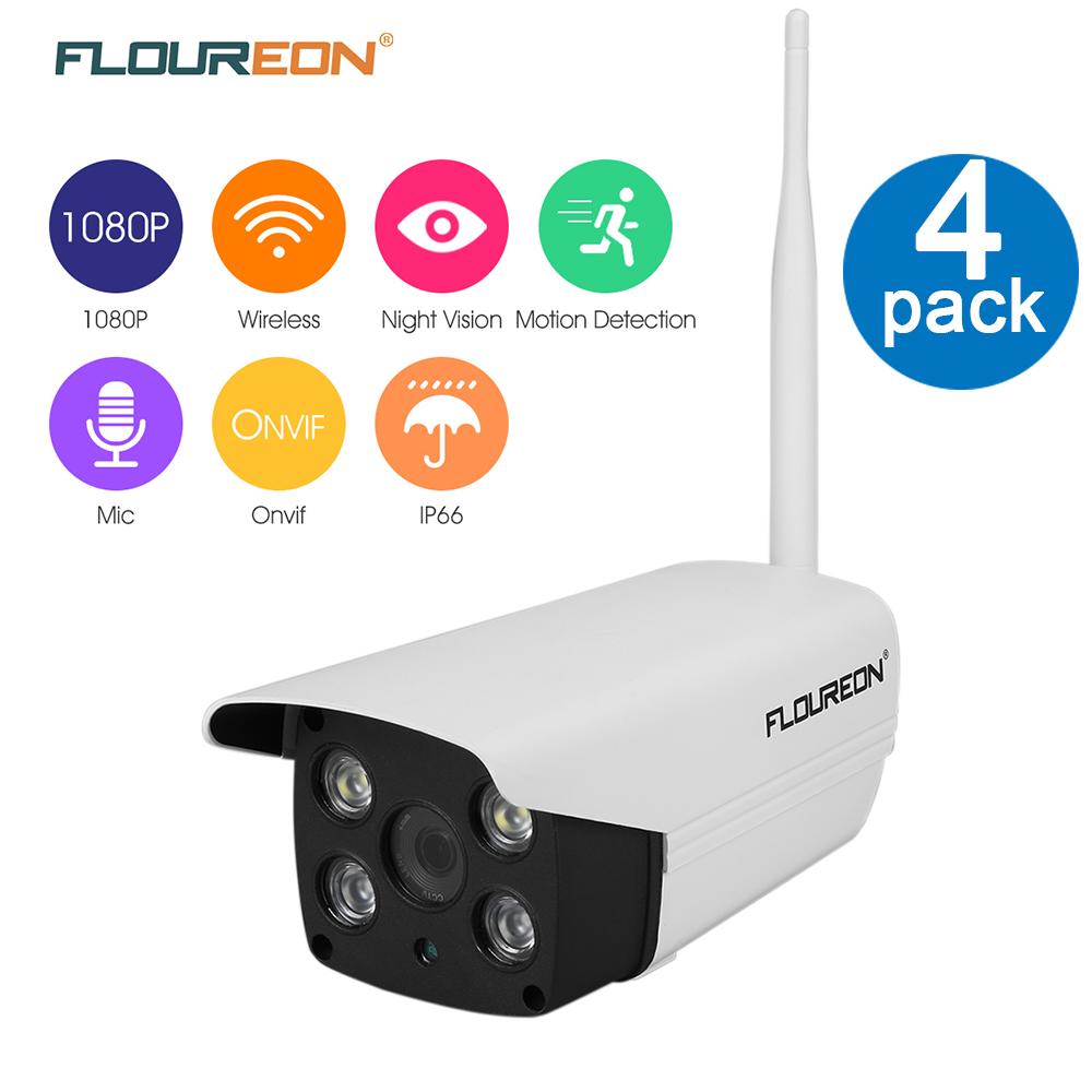 IP Camera, FLOUREON 1080P HD 2.0 Mega pixel WLAN H.264 Wireless Built-in Mic SD Slot WIFI Camera