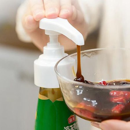 KABOER Ketchup Oil Pressure Sprayer Syrup Bottle Nozzle Household Oyster Sauce Plastic Pump Push-type Tools Kitchen Accessories