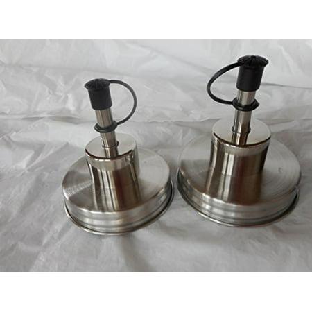 Chrome Jars (Mason Liquid Pour Spout Dispenser Converter w/Cap - Chrome Double Pack)