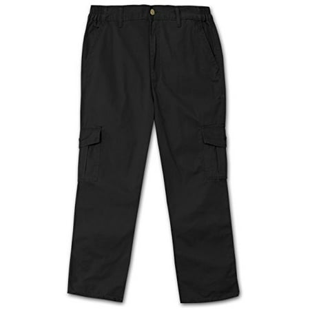 Full Blue Side Elastic Big and Tall Cargo Pant ( 36W x (Elastic Slide)