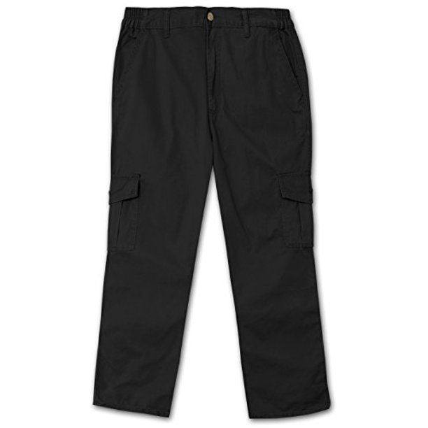 Full Blue Side Elastic Big and Tall Cargo Pant ( 42W x 34L)