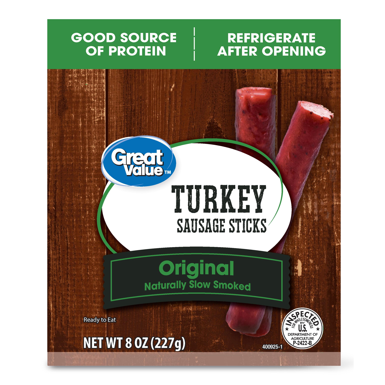 Great Value Original Turkey Sausage Sticks, 8 Oz.