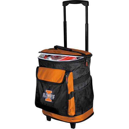 "Logo Chair NCAA Illinois 15"" x 16"" Rolling Cooler"