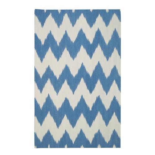 Genevieve Gorder Rugs Insignia Grecian Blue/Cream Area Rug