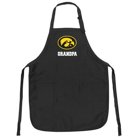 University of Iowa Grandpa Apron DELUXE Iowa Hawkeyes Grandpa -