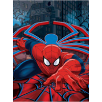 "Disney SPIDERMAN Royal Plush Raschel Throw Blanket, Twin Size 60""x 80"""