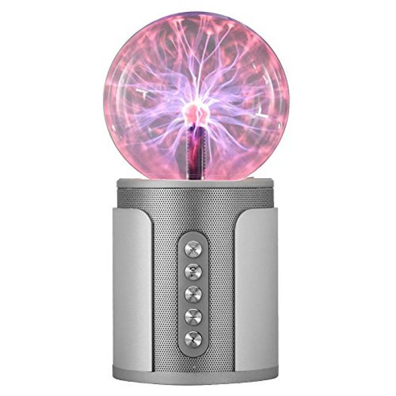 Uchoir Plasma Ball with Bluetooth Speaker, Rechargeable F...