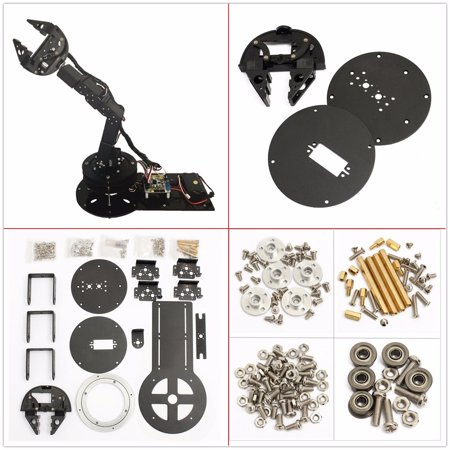 6DOF Mechanical Robotic Arm Clamp Claw Mount Aluminium Robot Kit Set For Arduino - image 4 de 4