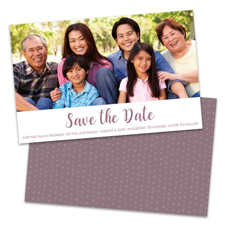 Personalized Single Photo Save The Dates