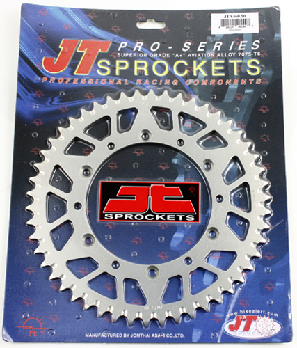 JT REAR ALLOY SPROCKET (JTA460), 50 TOOTH