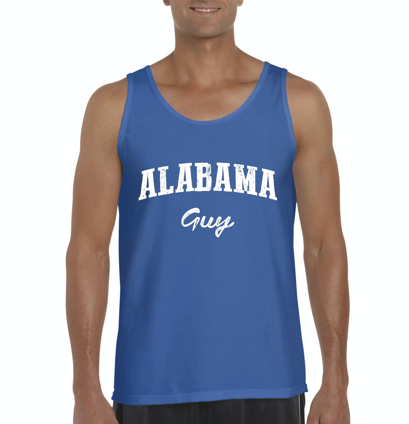 J_H_I AL Guy Yellowhammer Montgomery Flag Map Home of University of Alabama AU Mens Tanks