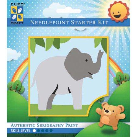 Elephant Needlepoint (Trumpeting Elephant - Needleart World Needlepoint Kit)