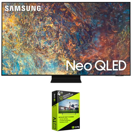 Samsung QN50QN90AA 50 Inch Neo QLED 4K Smart TV (2021) Bundle with Premium 4 Year Extended Protection Plan