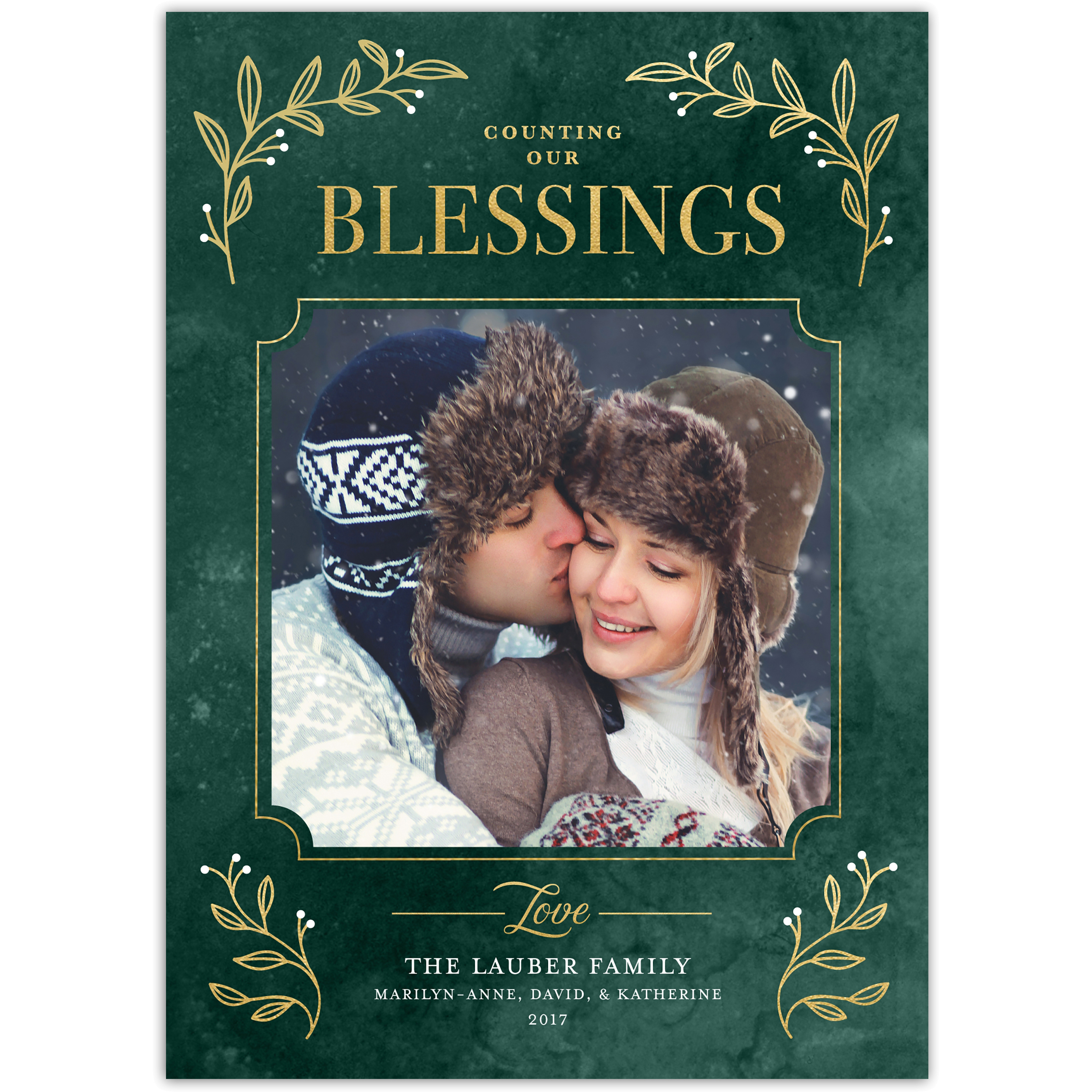 Counting Our Blessings - 5x7 Personalized Holiday Card