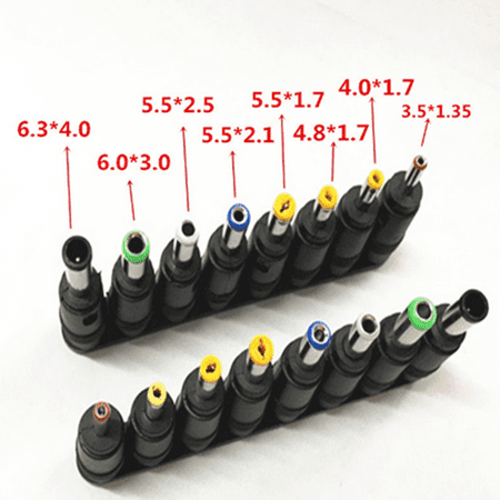 8pcs Universal AC DC Power Charger Adapter Tips for Laptop Notebook Use - image 5 of 5