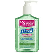 PURELL Advanced Hand Sanitizer Soothing Gel, Fresh Scent, with Aloe and Vitamin E, 12 Oz Pump