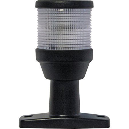 Hella 2NM 12V All Round White Anchor Lamp With Fixed Mount Black Base ()