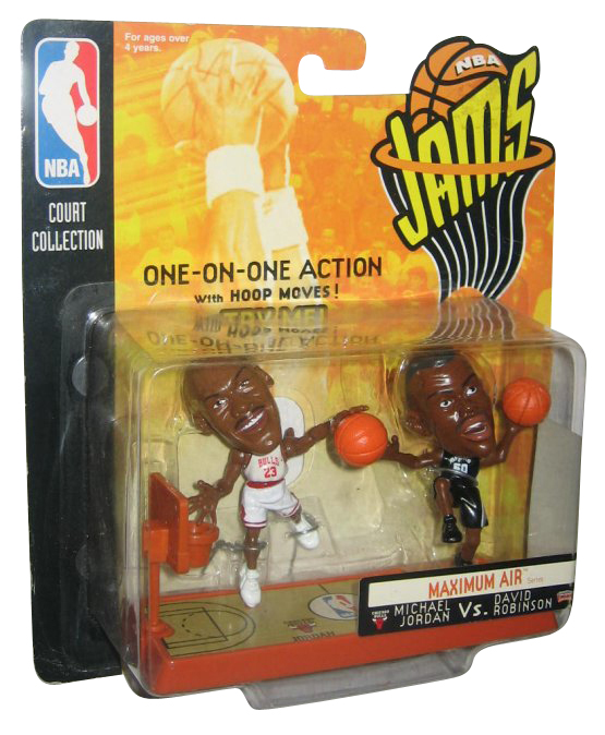 NBA Jams Michael Jordan Vs. David Robinson Figure Pack (One-On-One 1998 Mattel) by Mattel