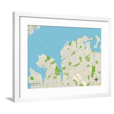 Political Map of Glen Cove, NY Framed Print Wall Art on olean map, cohoes map, huntington map, old saybrook map, farmingdale map, salisbury map, westbury map, glens falls map, floral park map, great river map, kensington map, crystal cove hiking map, brookhaven map, cove utah map, hammondsport map, town of hempstead map, chicopee map, fairhaven map, city island map, oil city map,