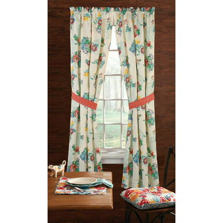 The Pioneer Woman Country Garden Window Curtain Panel, 40