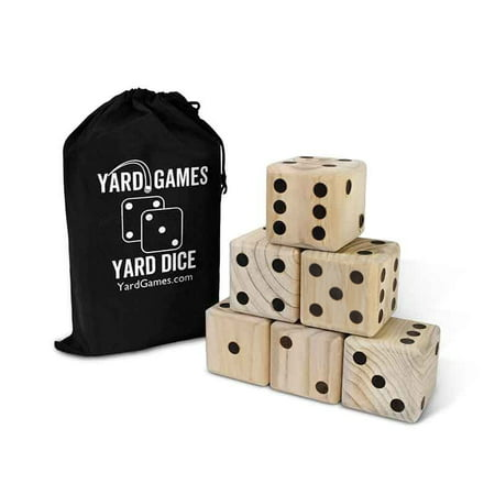 Striped Dice Wooden Set (Yard Games Giant Wooden Yard Dice)