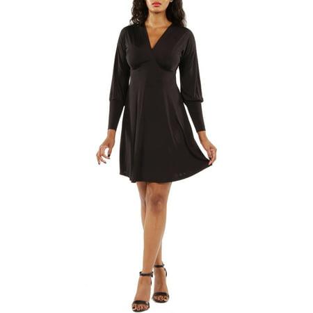 Women's Long Sleeve knee length Empire Dress