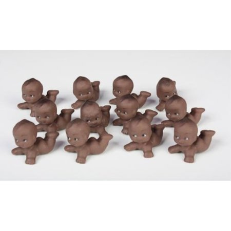 african american kewpie babies - for baby shower favors, cake decorations & baby gift decorations 24pcs (2 packages of 12 pcs)