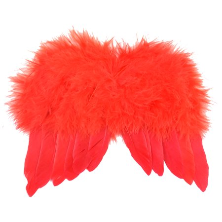 """Pack of 3 Red Mini Wings Costume Accessory - One Size Fits Most 7"""" - Red Angel Wings"""