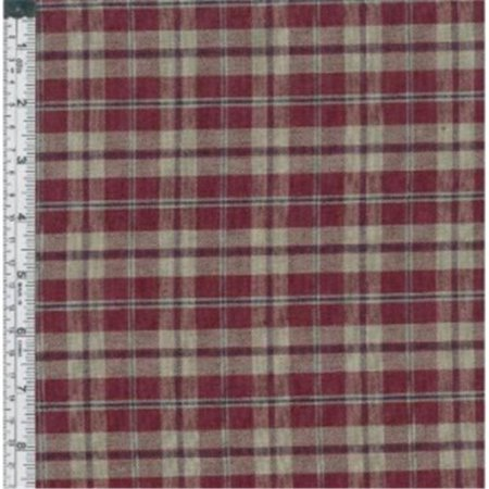 Textile Creations CC-316 Country Cupboard Fabric, Wine Med Plaid, 15 yd.