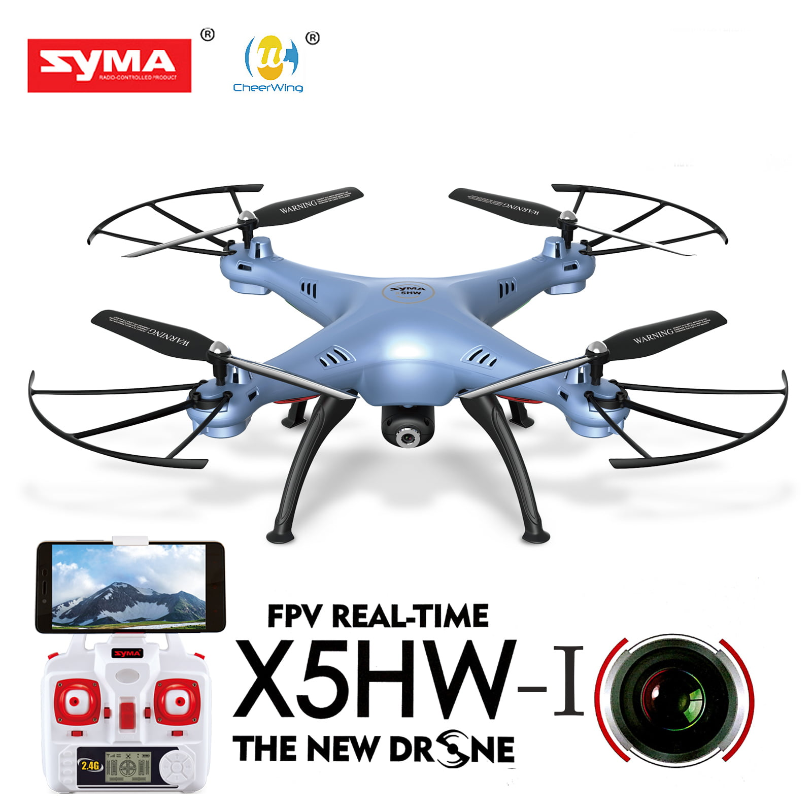 Cheerwing Syma X5HW-I FPV 2.4Ghz 4CH RC Headless Quadcopter Drone UFO with Hover Function... by Cheerwing