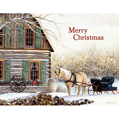 "Lang ""Cabin and Sunset"" Boxed Christmas Cards"