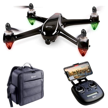 Contixo F18 Drone with 2K HD WiFi Camera Live Video Streaming Altitude Hold GPS FPV Brushless Motors RTH for Beginners Adults Plus Backpack Storage Drone Case