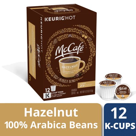 (McCafe Hazelnut Flavored Coffee, Light Roast, K-Cup Pods, 12 Count)