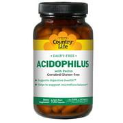 Country Life Acidophilus with Pectin Vegetarian, 100 Caps