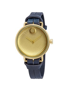 Movado Edge Gold Dial Ladies Watch 3680036