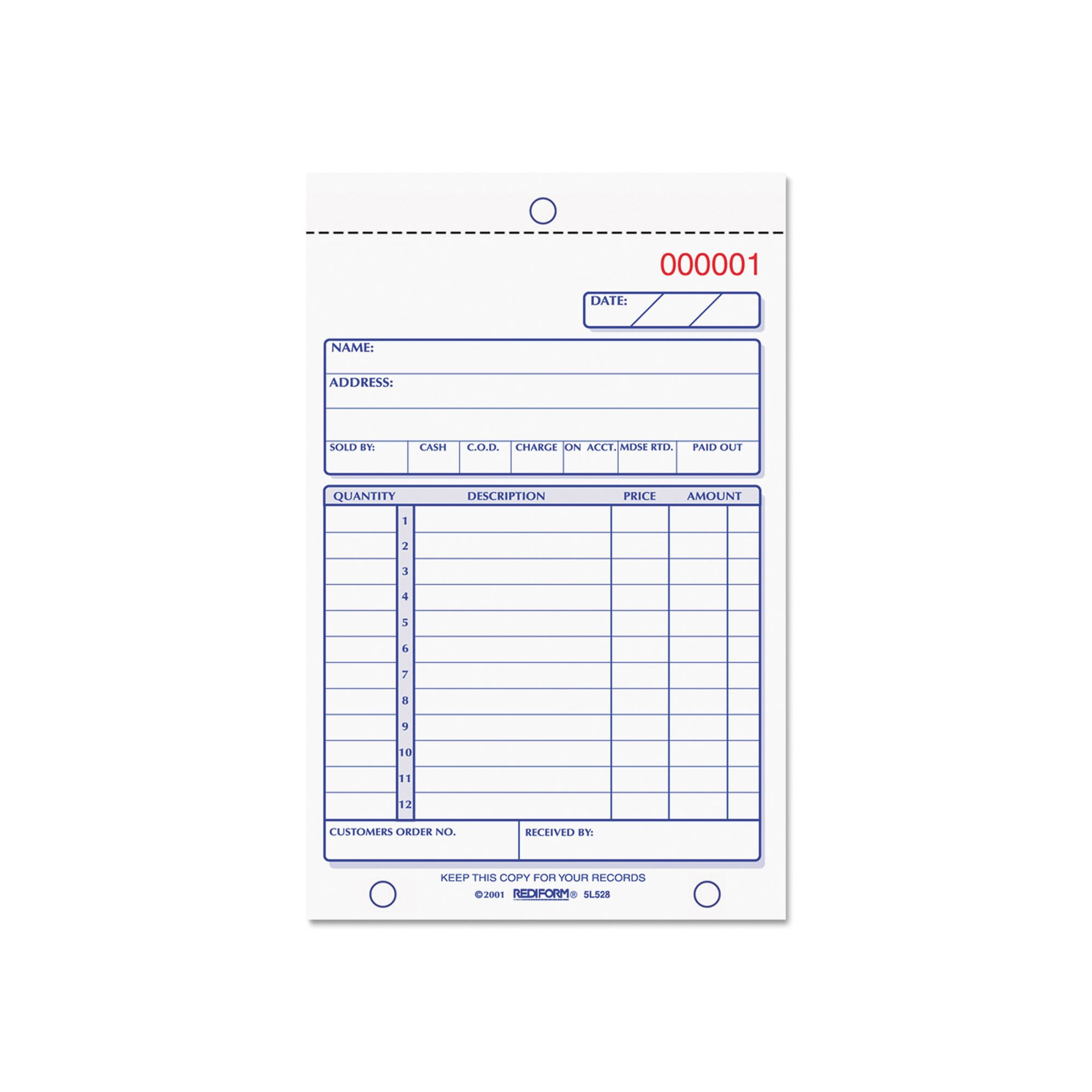 An Item of Rediform Carbonless Sales Book Pack of 1 [Bulk Qty Discount Coupon : Christo] by