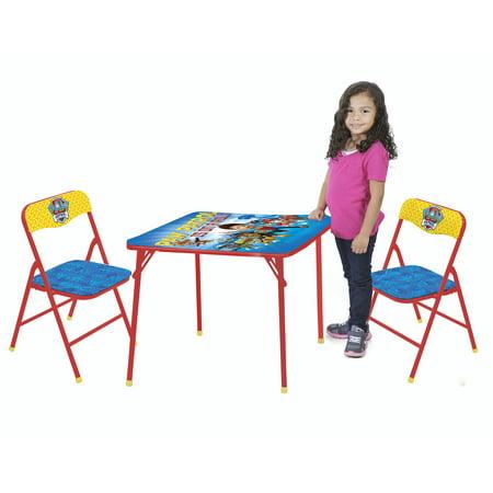 Nickelodeon Paw Patrol 3-Piece Table and Chair Set - Walmart.com