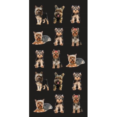 Beach Towel 30X60 YorkShirte Dog Man's Best