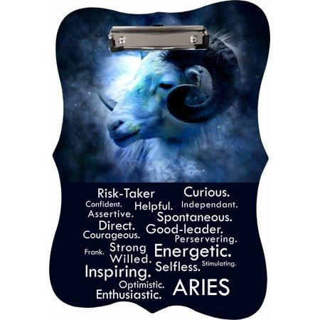 Zodiac Traits Aries - Benelux Shaped 2-Sided Hardboard Clipboard - Dry Erase Surface