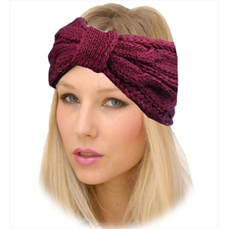 Crochet Hair Walmart : CoverYourHair 28508 Warm Crochet Wide Headband, Plum - Walmart.com