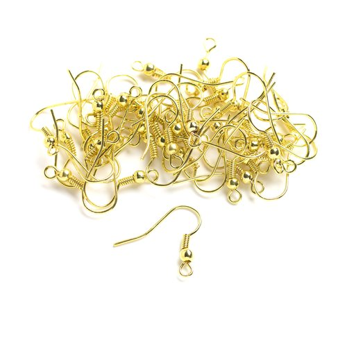 36pc Metal Fishhook Set, Gold
