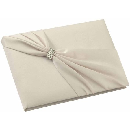 Lillian Rose Ivory Satin Sash Guest Book