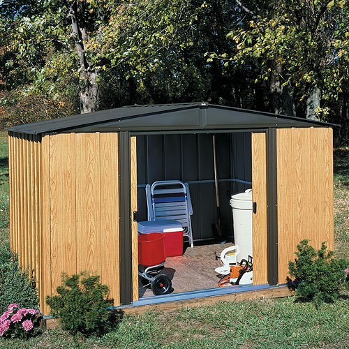 Arrow Woodlake Economy Peak Roof Steel Shed, 8x6