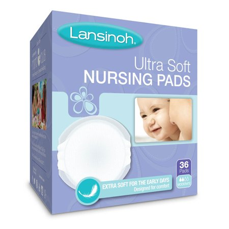 Contoured Disposable Breast Pads - Lansinoh Disposable Ultra Soft Nursing Pads , 36 ct