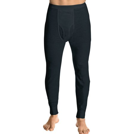 Small Thermal - Hanes Men's Big Red Label X-Temp Thermal Pant, Black, Small